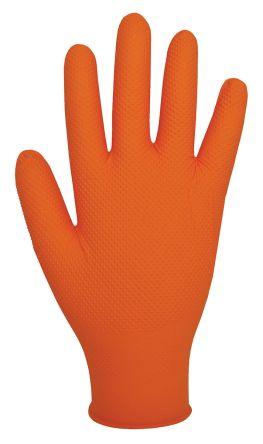 Orange Nitrile Gloves size 10 - XL Powder-Free x 90 product photo