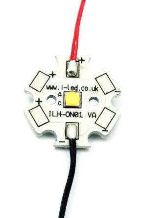 ILS ILH-OG01-WMWH-SC221-WIR200., OSLON Square PowerStar Circular LED Array, 1 White LED (3000K)