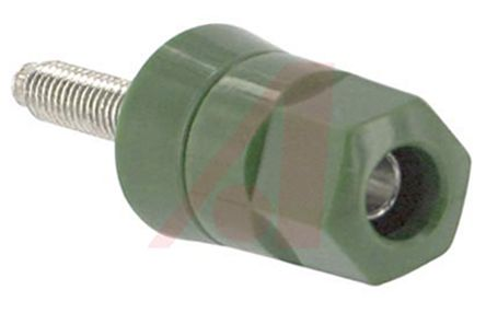 Abbatron 30A, Green Binding Post with Brass Contacts and Tin Plated