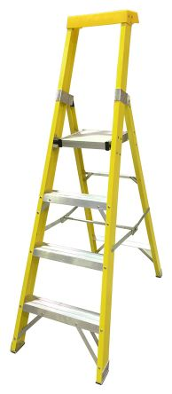 RS PRO Aluminium Step Ladder 4 steps