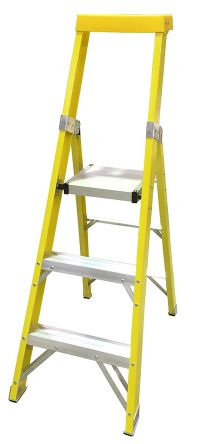 RS PRO Aluminium Step Ladder 3 steps