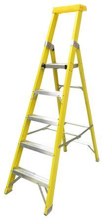 RS PRO Fibreglass Step Ladder 5 steps