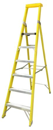 RS PRO Aluminium Step Ladder 6 steps