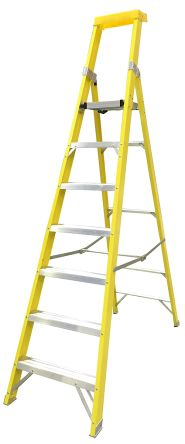RS PRO Aluminium Step Ladder 7 steps