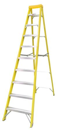 RS PRO Aluminium Step Ladder 10 steps 2.8m open length