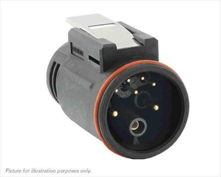 Souriau, 8 contacts Cable Mount Plug Crimp IP68, IP69K