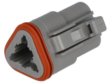 DT06-3S Deutsch   Deutsch DT Series, 1 Row 3 Way Plug Connector ...