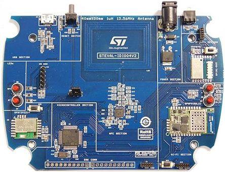 STMicroelectronics Wireless Bridge 868MHz Bluetooth Smart (BLE), Near Field  Communication (NFC), WiFi Evaluation Kit -