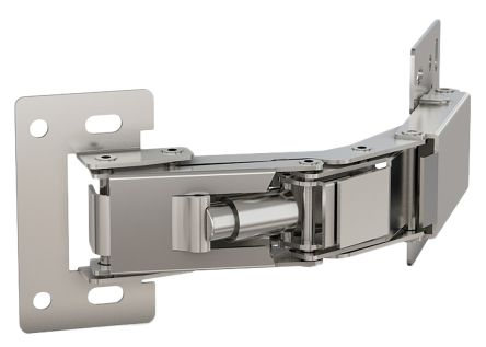 Electro Polished Stainless Steel Concealed Hinge with a Spring Loaded Pin Screw, 52mm x 112mm x 81mm product photo