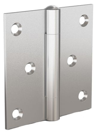 Plain Stainless Steel Square Hinge with a Removable Pin Screw, 70mm x 70mm x 2mm product photo