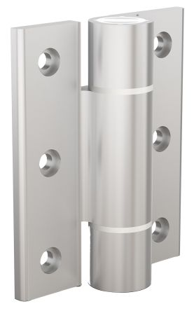 Clear Anodised Aluminium Hinge with a Spring Loaded Pin Screw, 100mm x 82.5mm x 5.5mm product photo