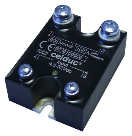 Celduc 100 A Solid State Relay DC Switching Panel Mount IGBT 600