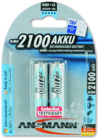 MaxE Precharged NiMH Rechargeable AA Batteries, 2100mAh product photo