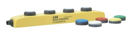 ABB Smile 41 3NO/1NC Push Button Control Station, IP65 60mm Yellow 260mm 3 Blue, Green, Red, White, Yellow 40mm