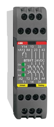 BT51 Safety Relay, Dual Channel, 24 V dc, 4 Safety