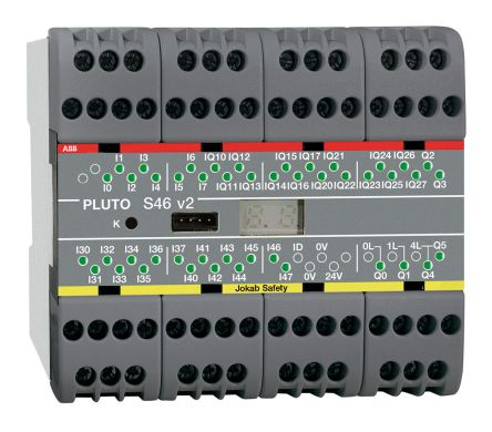 Pluto S46 v2 Series Safety Controller, 24 Safety Inputs, 16 Safety Outputs, 24 V dc