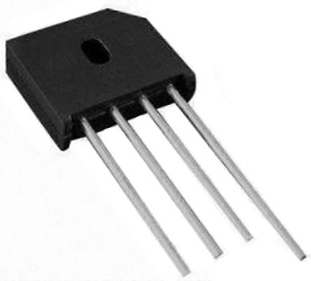 HY Electronic Corp KBU806, Bridge Rectifier, 8A 600V, 4-Pin KBU