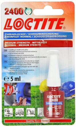 LOCTITE 2400 Blue Thread lock, 5 ml, 24 h Cure Time product photo