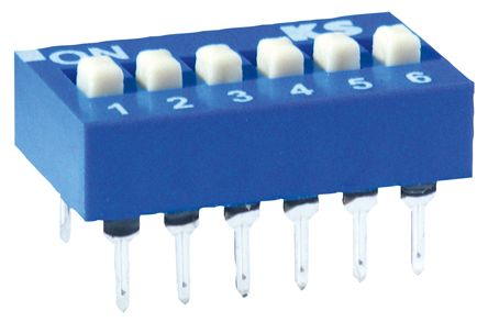 2 Way PCB DIP Switch 2PST, Raised Actuator product photo