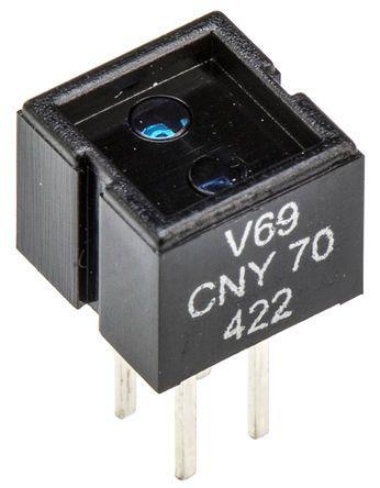 CNY70 Vishay, Through Hole Reflective Sensor, Phototransistor Output