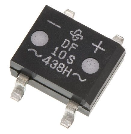 Vishay DF10S-E3/77, Bridge Rectifier, 1A 1000V, 4-Pin DF-S