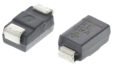 Vishay SMAJ5.0A-E3/61, Uni-Directional TVS Diode, 400W, 2-Pin DO-214AC