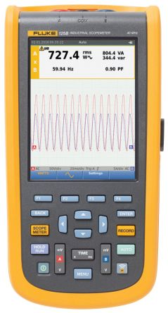 Fluke 125 Series 125B ScopeMeter Digital Oscilloscope, Handheld, 2 Channels, 40MHz