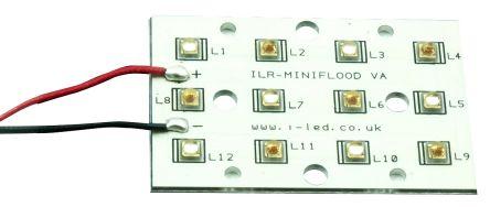 ILS ILR-OX12-6HR6DB-SC211-WIR200., OSLON SSL Petunia LED Linear Array, 12 Deep Blue, Hyper Red LEDs