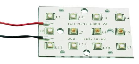 ILS ILR-OX12-3HR9DB-SC211-WIR200., OSLON SSL Petunia LED Linear Array, 12 Deep Blue, Hyper Red LEDs