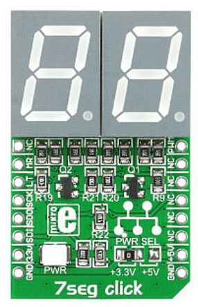 mikroBus Click add-on 2-digit 7-seg LED product photo