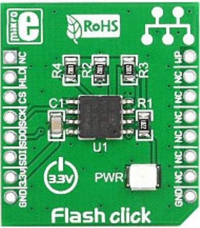 MikroElektronika MIKROE-1199, Flash Click Serial Flash Add On Board for mikroBUS