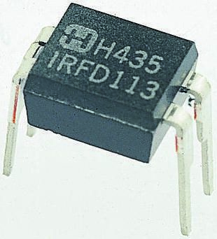 IRFD210PBF N-Channel MOSFET, 600 mA, 200 V, 4-Pin HVMDIP Vishay