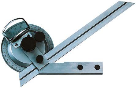 Metric Protractor, 360° Range, 150mm Stainless Steel Blade