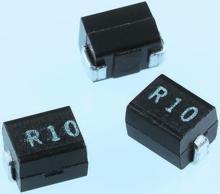 Wurth, WE-GF, 1210 (3225M) Wire-wound SMD Inductor with a Ferrite Core, 10 μH ±10% Wire-Wound 150mA Idc Q:30