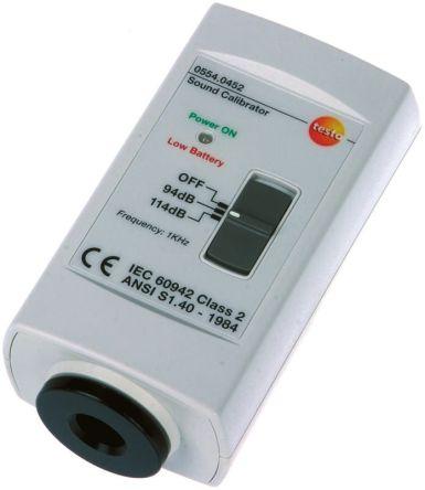 Testo 0554 0452 Sound Level Calibrator 94 dB, 114 dB 1000Hz