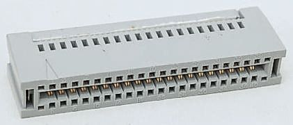 3M 3000 Series, Right Angle Female PCB Edge Connector, Panel Mount Mount, 34 Way, 2 Row, 2.54mm Pitch, 1A