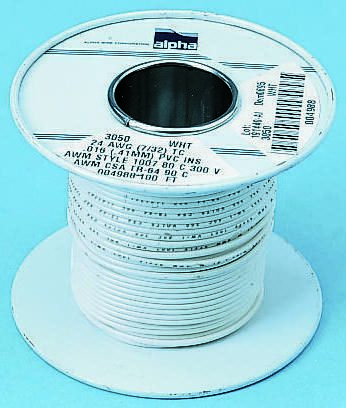Grey Hook Up Wire UL1061, 0.75 mm² CSA , 300 V 18 AWG, 30m product photo