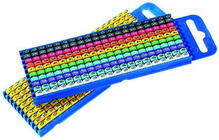 2.8 mm Slide On Pre Printed Wire Marker Helagrip Multiple Colours
