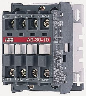 ABB 3 Pole Contactor, 30 A, 230 V ac Coil, A Line, 3NO, 7.5 kW Abb Ta Du Wiring Diagram on