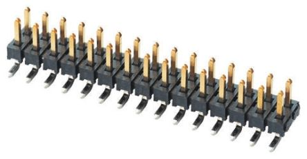 Samtec TMM, 2mm Pitch, 40 Way, 2 Row, Straight Pin Header, Surface Mount