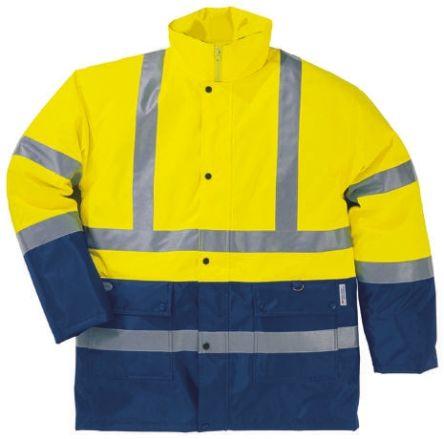Delta Plus Yellow/Navy Unisex M Polyester Hi Vis