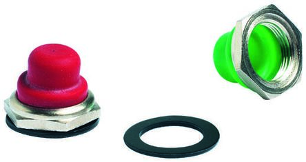 Push Button Boot, for use with 1200, 4700, 4800 Series Push Button Switch,Red