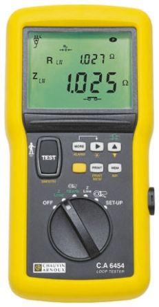 Chauvin Arnoux CA 6454, LCD Schleifenimpedanz Messgerät, 3-Draht ...