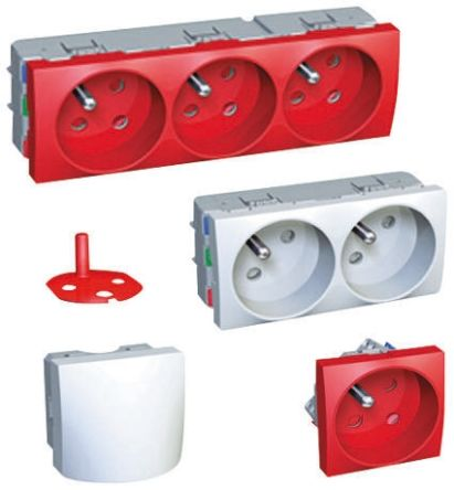 Schneider Electric 1 Gang Polycarbonate Electrical Socket