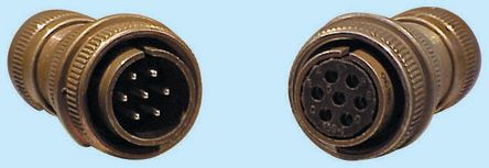 10 Way Cable Mount MIL Spec Circular Connector Plug, Socket Contacts,Shell Size 18, MIL-DTL-5015 product photo