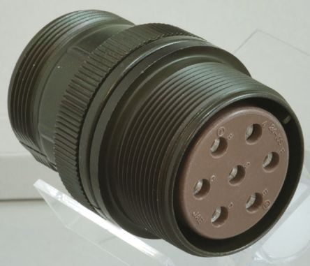 10 Way Cable Mount MIL Spec Circular Connector Receptacle, Socket Contacts,Shell Size 18 product photo
