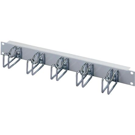 19-inch Cable Panel, 1U, Grey, Steel product photo