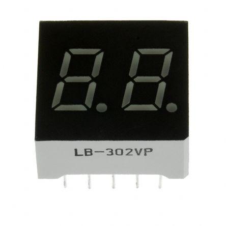 Hdsp H101 Hdsp H101 Broadcom 7 Segment Led Display Ca Red 4 2 Mcd Rh Dp 14 2mm Rs Components