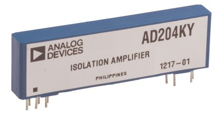 Analog Devices AD204KY, Isolation Amplifier 2-channel, 10-Pin SIP