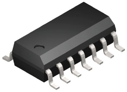 ON Semiconductor MC74HC125ADR2G, Quad-Channel Non-Inverting 3-State Buffer, 14-Pin SOIC